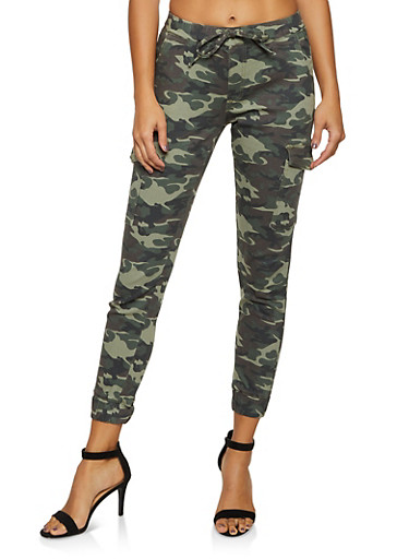 Almost Famous Camo Cargo Joggers | 3074015990124,OLIVE,large