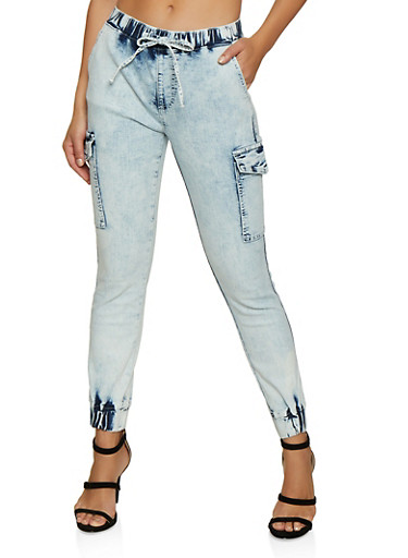 Almost Famous Cloud Wash Cargo Joggers,STONE,large