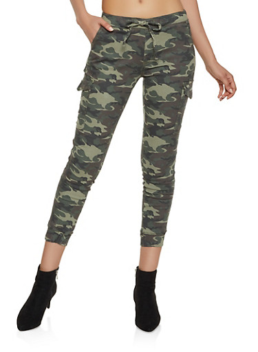 Almost Famous Camo Cargo Joggers | 3074015990405,OLIVE,large