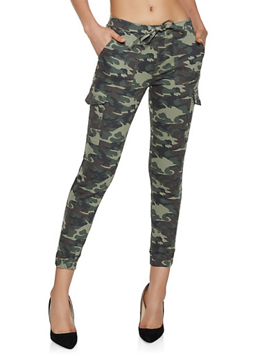 Almost Famous Camouflage Joggers,OLIVE,large