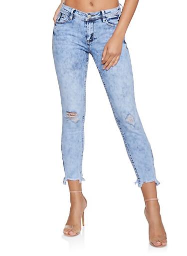 Almost Famous Zipper Detail Jeans,LIGHT WASH,large