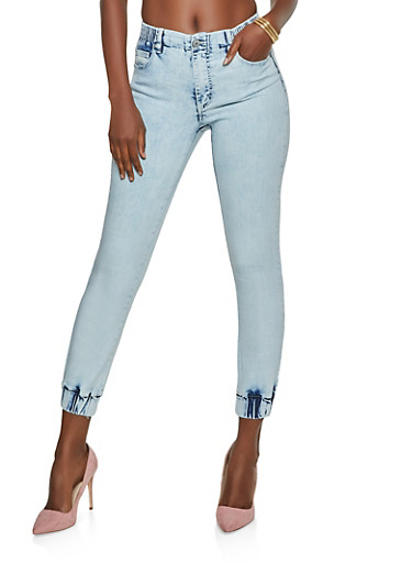 Almost Famous Denim Joggers | 3074015992129,STONE,large