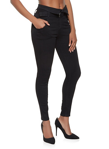 Almost Famous High Waisted Skinny Jeans - 3074015992183