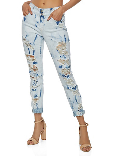 Almost Famous Destroyed Cuffed Jeans