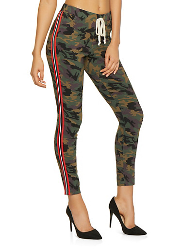 Side Stripe Hyperstretch Camo Pants,OLIVE,large