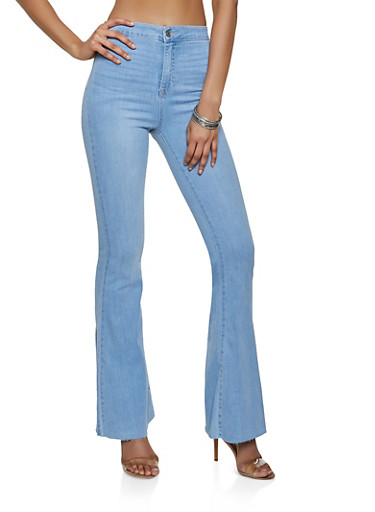Cello Raw Hem Flared Jeans | 3074063150808 by Rainbow