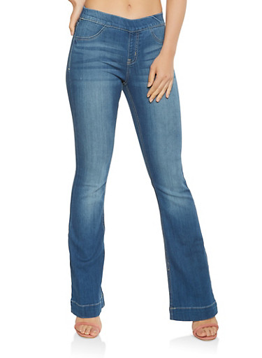 Cello Pull On Flared Jeans - 3074063155324