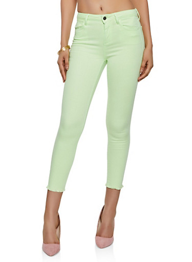 Cello Skinny Jeans | Neon Lime,NEON LIME,large