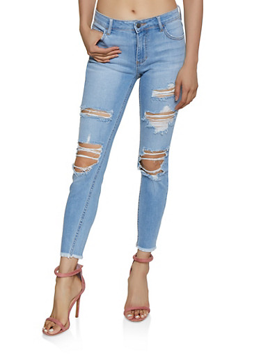 Cello Ripped Jeans,LIGHT WASH,large