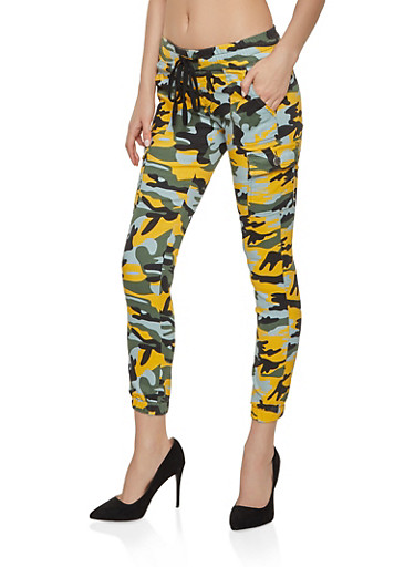 Camo Cargo Joggers | 3074065300267,YELLOW,large