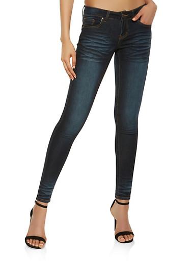 VIP Whisker Wash Push Up Jeans,DENIM,large