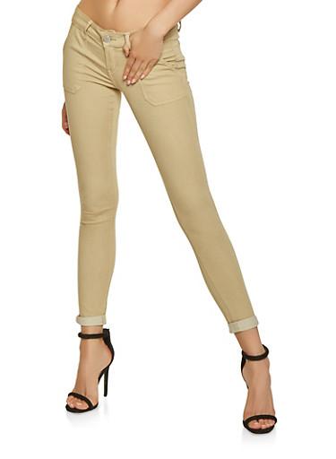Skinny Khaki Pants,KHAKI,large
