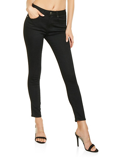 VIP Push Up Skinny Jeans,BLACK,large