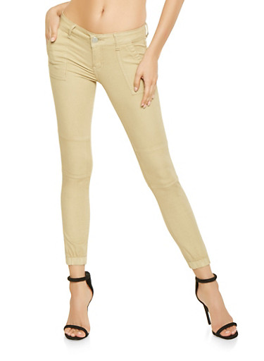 Push Up Khaki Joggers,KHAKI,large