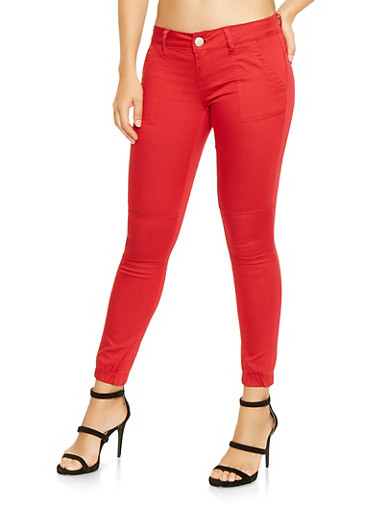 Red Push Up Joggers,RED,large
