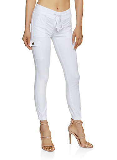 Solid Cargo Joggers | 3074065303867,WHITE,large