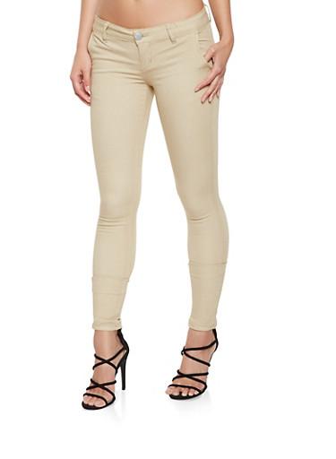 VIP Skinny Khaki Pants,KHAKI,large