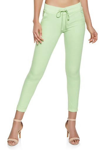 Neon Colored Joggers,LIME,large
