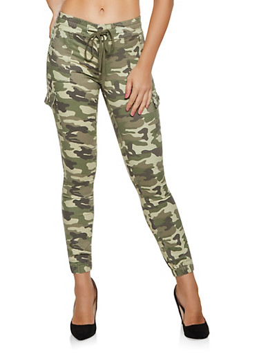 VIP Camo Cargo Joggers | 3074065307620,OLIVE,large