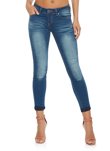 VIP Push Up Skinny Jeans,BLUE,large
