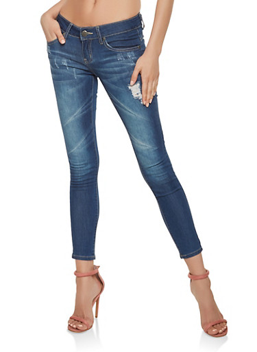 VIP Cropped Push Up Jeans,DARK WASH,large