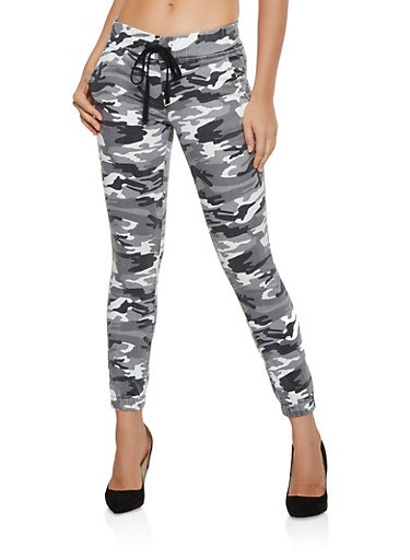 Camo Pull On Joggers,GRAY,large