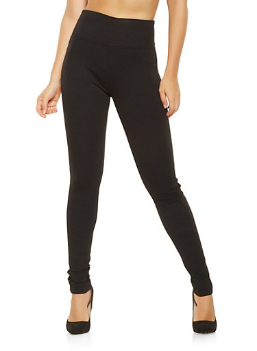 Push Up Ponte Pants,BLACK,large