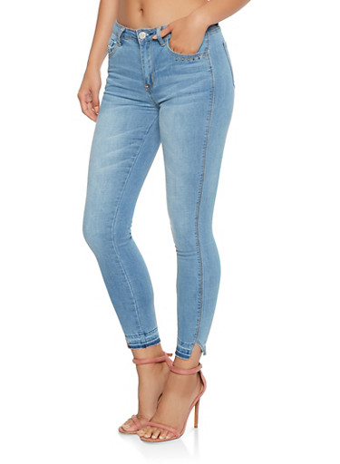Raw Hem Skinny Jeans at Rainbow Shops in Jacksonville, FL | Tuggl