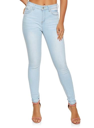 WAX Whisker Wash Skinny Jeans,LIGHT WASH,large