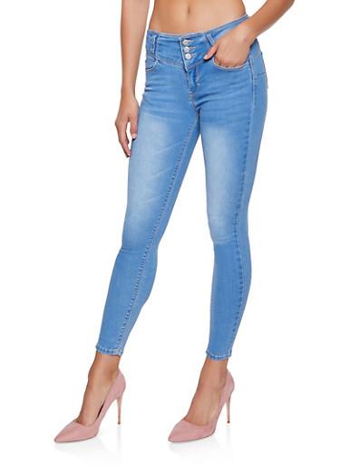 WAX Basic Push Up Skinny Jeans,LIGHT WASH,large