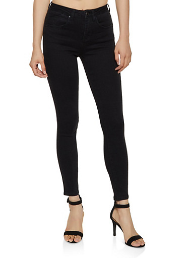 WAX Push Up Skinny Jeans,BLACK,large