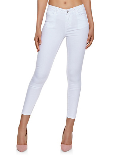 Colored Twill Pants,WHITE,large