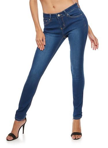 WAX Basic Skinny Jeans,MEDIUM WASH,large