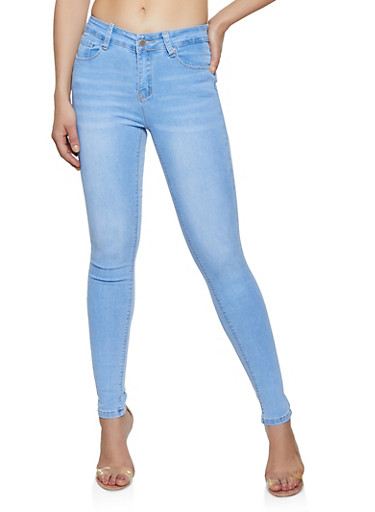 WAX Whiskered Skinny Jeans,LIGHT WASH,large