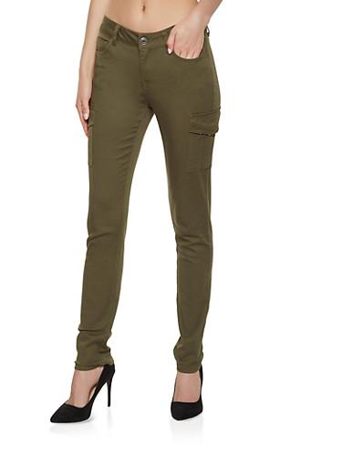 Twill Cargo Pants | 3074071619999,OLIVE,large