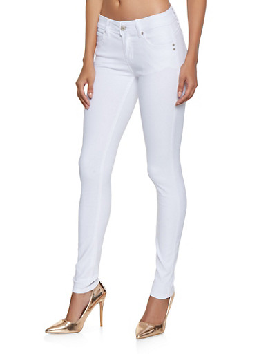 Hyperstretch Push Up Jeggings,WHITE,large