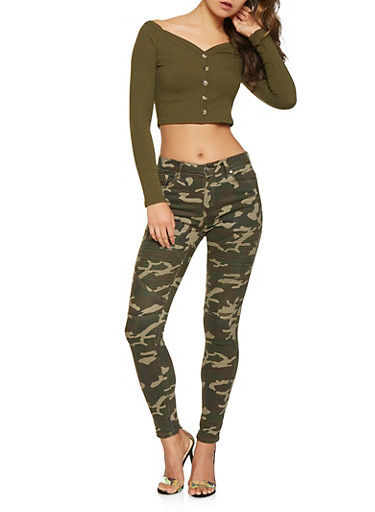 Camo Moto Jeans,GREEN,large