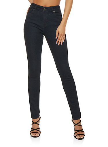 High Waisted Skinny Jeans - 3074072291133