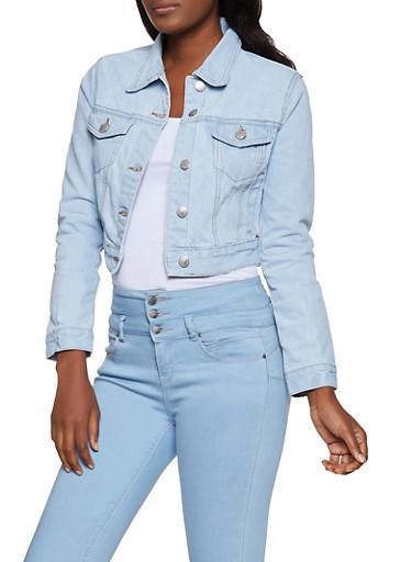 Solid Jean Jacket,LIGHT WASH,large
