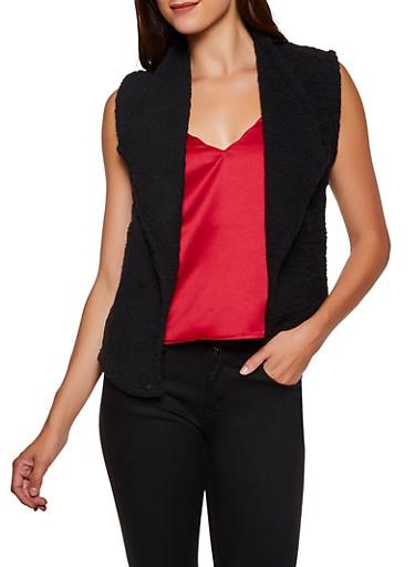 Flyaway Sherpa Vest,BLACK,large