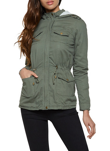 Sherpa Lined Anorak Jacket by Rainbow