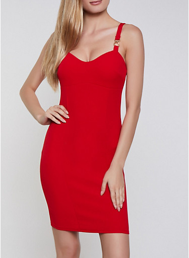 Textured Knit Midi Bodycon Dress,RED,large