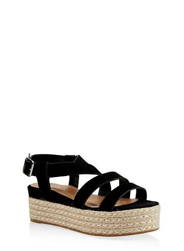 afa55bb8825a6 Strappy Espadrille Platform Sandals