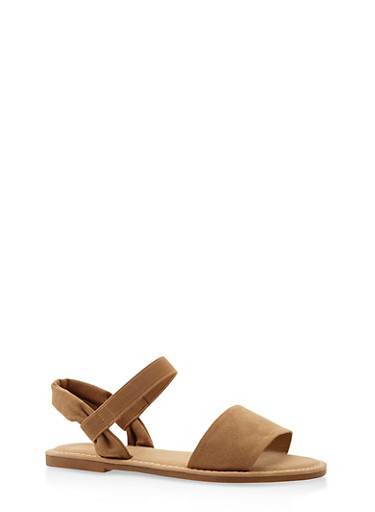 Elastic Band Sandals,NATURAL,large