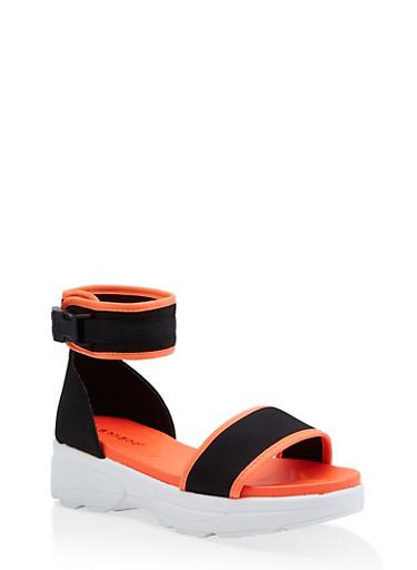 Sporty Platform Sandals - Rainbow