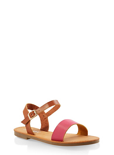 Ankle Strap Sandals,FUCHSIA,large