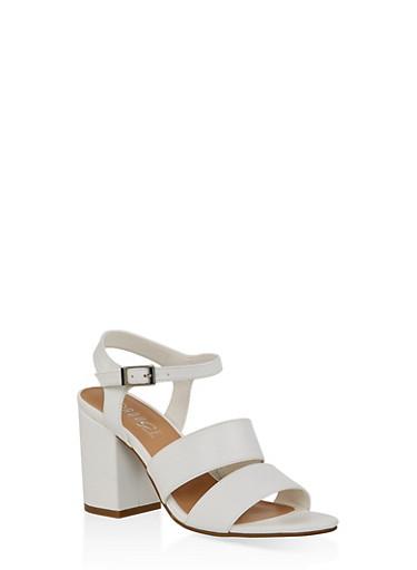Block Heel Sandals | 3111004062774,WHITE,large