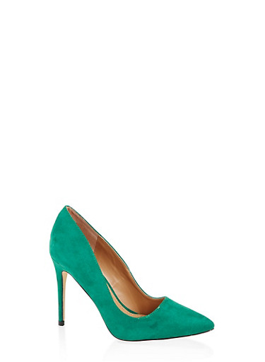 Pointed Toe Stilettos,GREEN,large