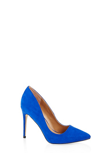 Pointed Toe Stilettos,BLUE,large