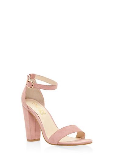 Ankle Strap High Heel Sandals,MAUVE,large